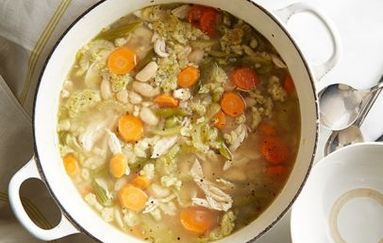 Chicken and Dumpling Soup with Quinoa