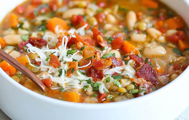 Hearty Lentil and White Bean Soup